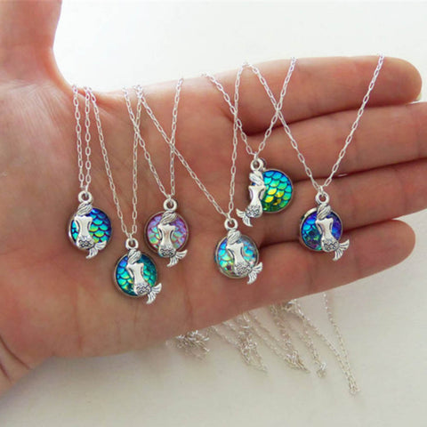 Mermaid pendant with colorful scales