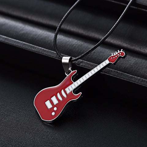 Musical guitar pendant choker necklace 🎸🎸