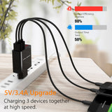 3 Port USB Fast Charger 3.4 Amps total with Led Display