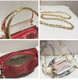 Round Transparent Crossbody HandBag for 2018