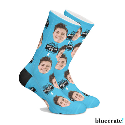 Customized Awesome Dad Socks (3644548874345)