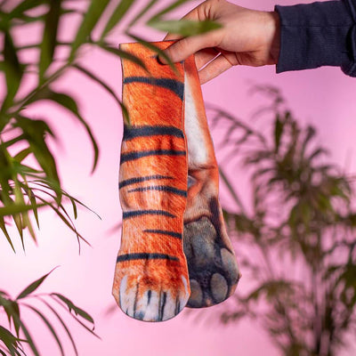 Animal Paw Socks (One Size Fits All)Tiger