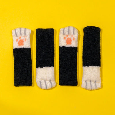 Cat Paw Chair Socks (4 Pack)Black