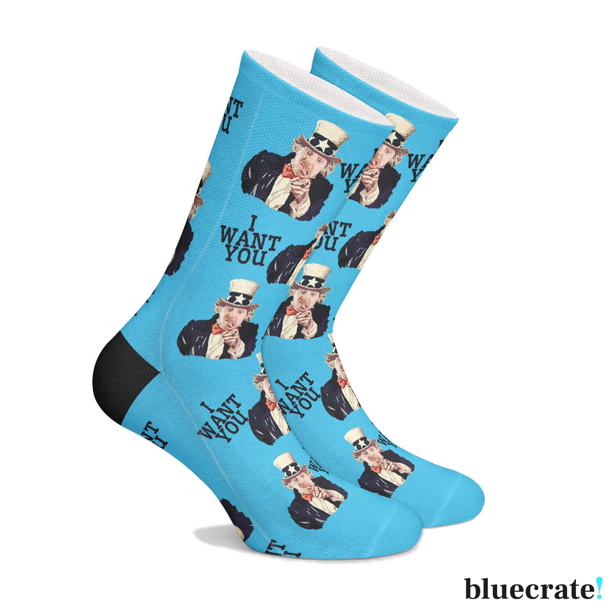 Personalized USA Socks (3644547629161)