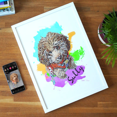 Personalizable Pet Print - Watercolors