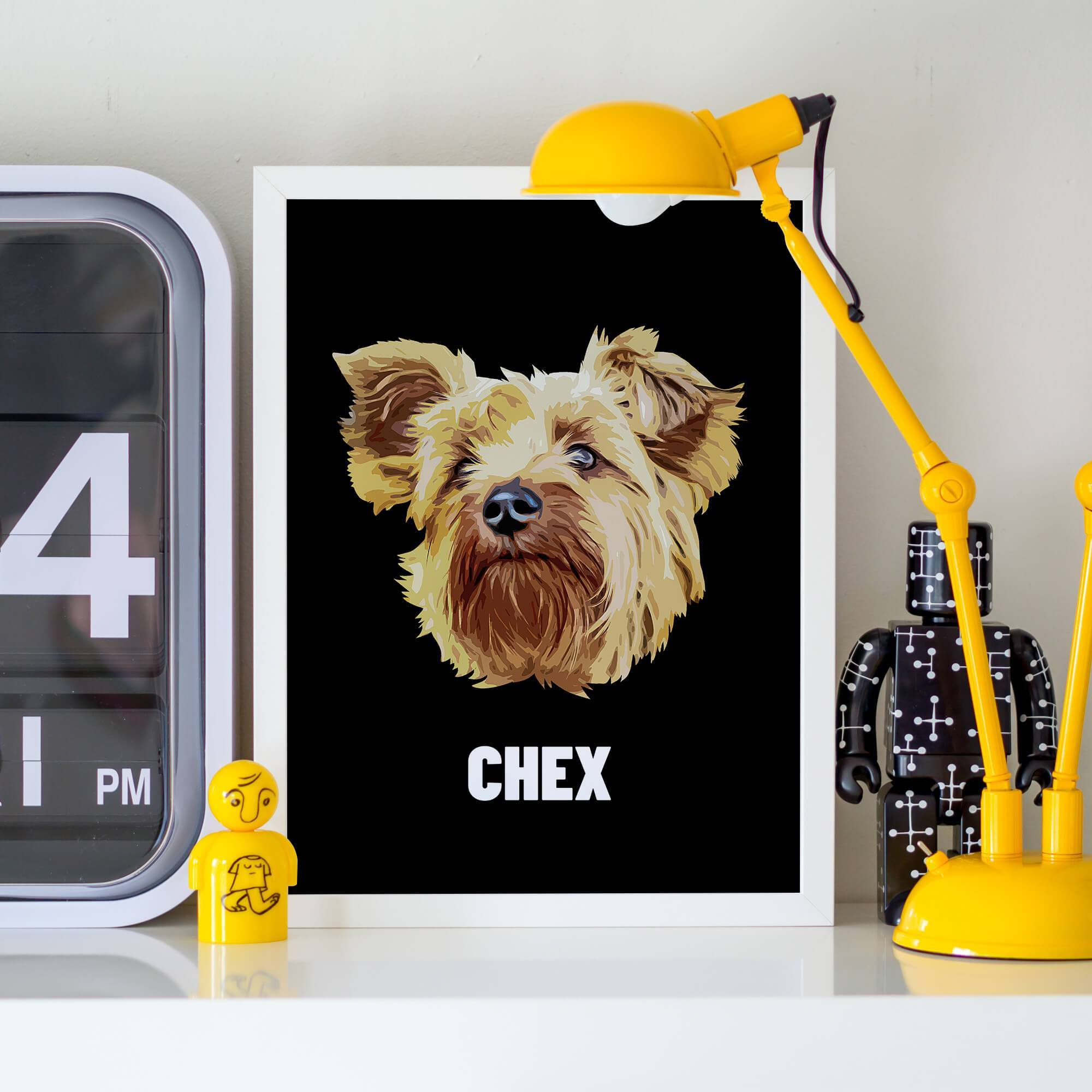 Personalizable Pet Print - Pet Face