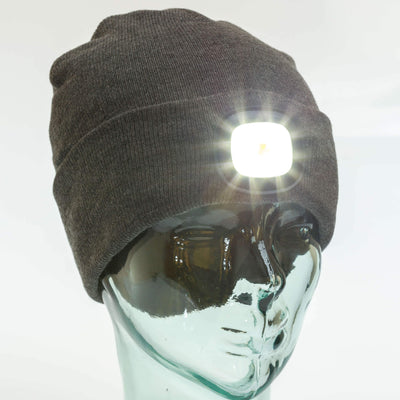 Beanie with light attached
