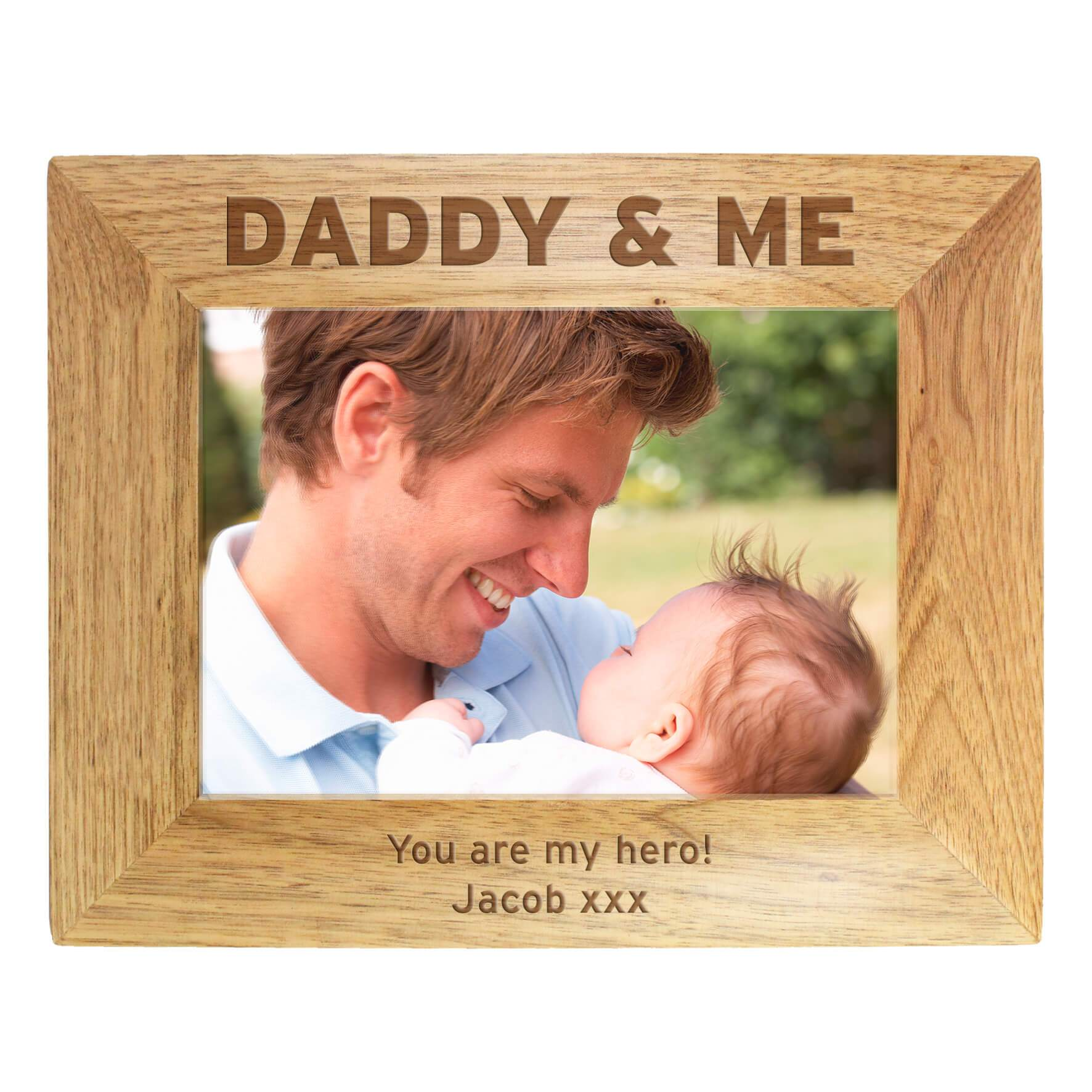 Personalizable Daddy and Me Wooden Photo Frame