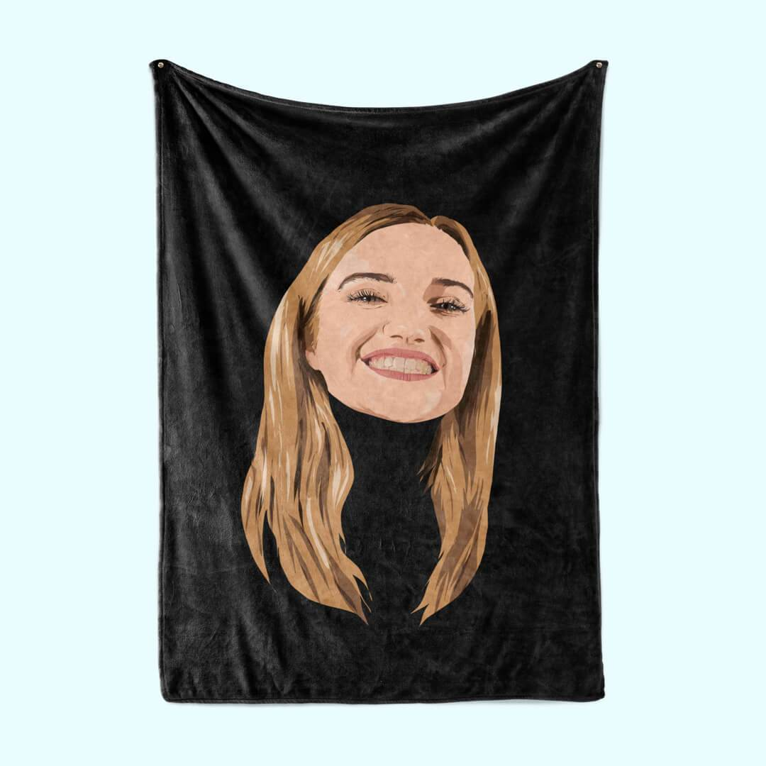 Personalised Face BlanketBlack