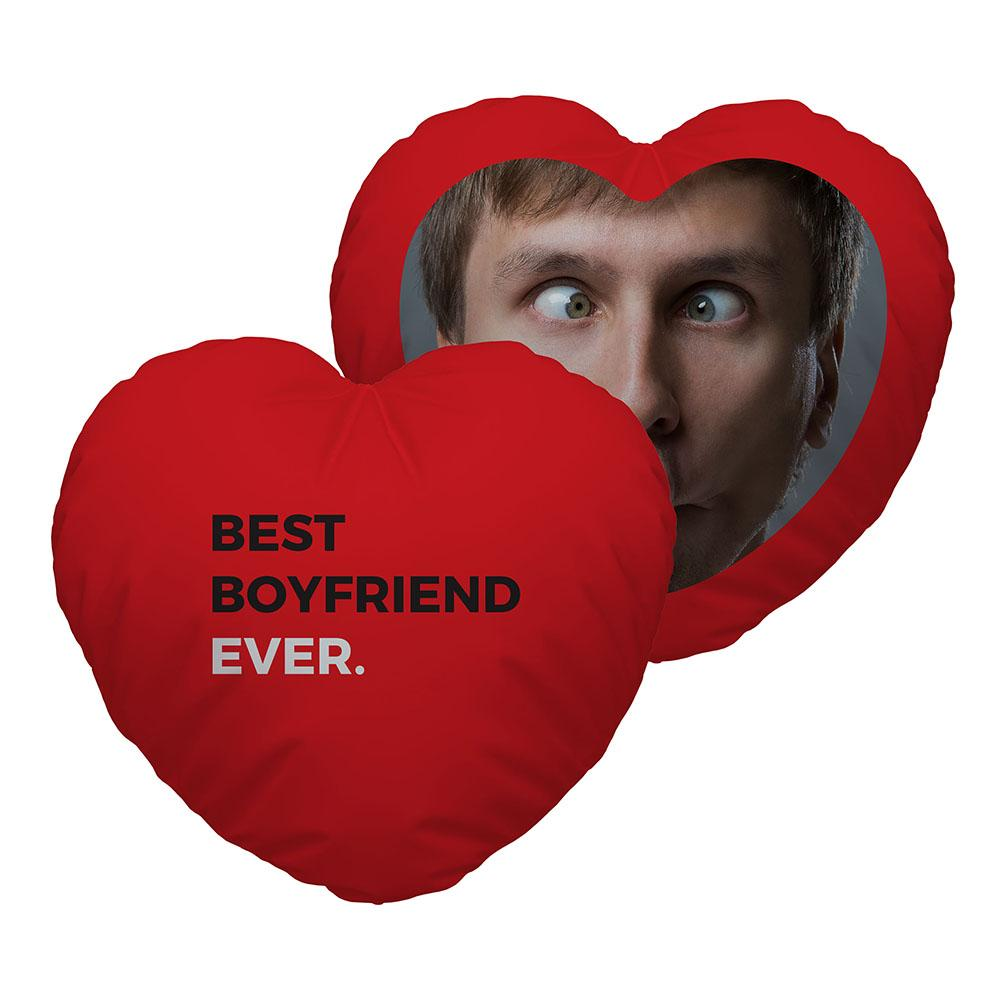 Personalised Heart Shaped CushionBest Boyfriend Ever
