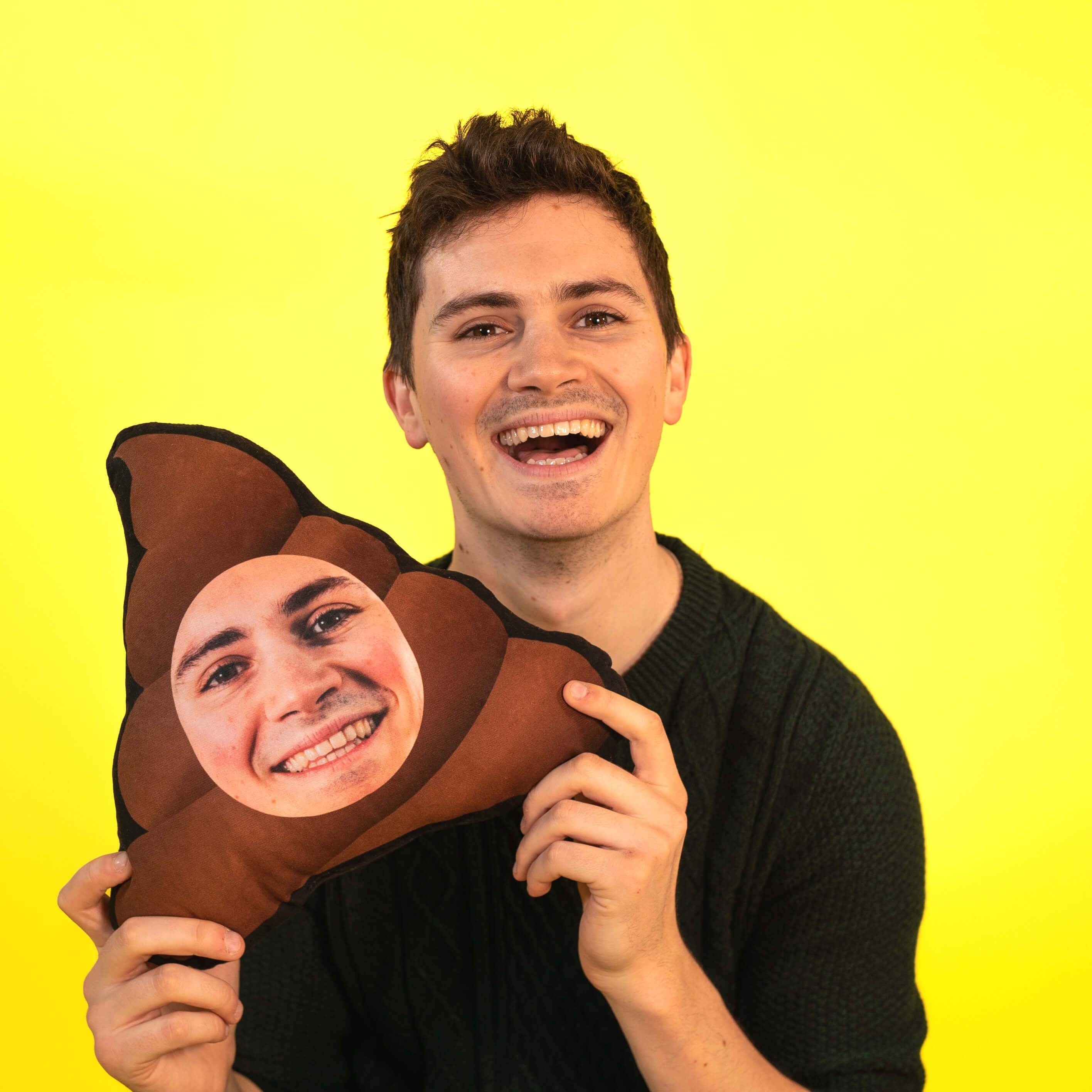 Poo Face - Personalized Emoji Pillow (4491511464041)