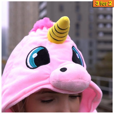 Hooded Unicorn Travel Pillow (2348768067689)