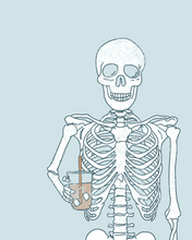 Load image into Gallery viewer, SKELETON & ICED COFFEE PRINT