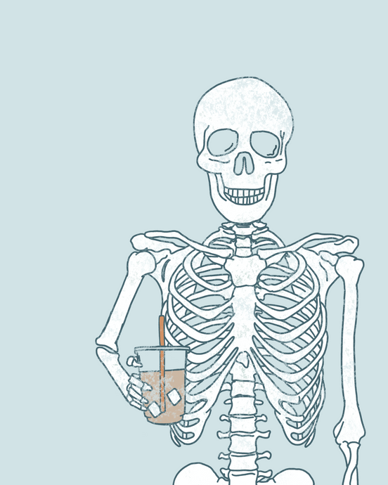 SKELETON & ICED COFFEE PRINT