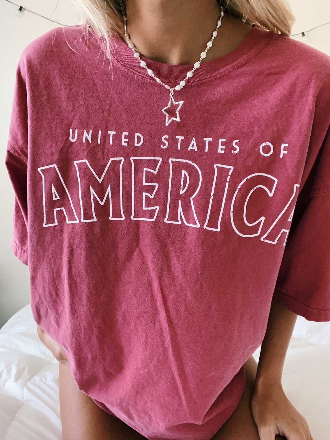 U.S.A. TEE (NAVY OR RED) - Olive Lynn