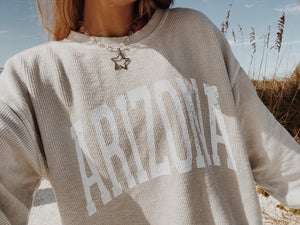 ARIZONA CORDED CREWNECK - Olive Lynn
