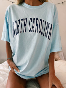 LIGHT BLUE NORTH CAROLINA TEE - Olive Lynn