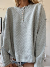 Load image into Gallery viewer, VINTAGE BLUE CHEVRON SWEATER