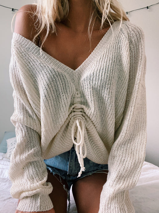 DREAMIN' RUCHED SWEATER