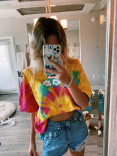 "Load image into Gallery viewer, ""SUMMER CAMP"" TIE DYE TEE - Olive Lynn"