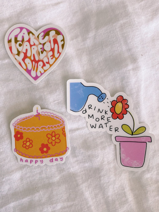 """TAKE CARE OF YOURSELF"" STICKER PACK"