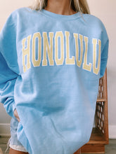 "Load image into Gallery viewer, BLUE ""HONOLULU"" SWEATSHIRT - Olive Lynn"