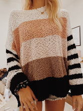 "Load image into Gallery viewer, ""PARIS NIGHTS"" STRIPED SWEATER - Olive Lynn"
