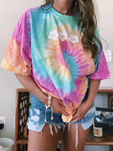 Load image into Gallery viewer, PASTEL TIE DYE FLOWER TEE - Olive Lynn