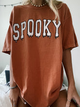 Load image into Gallery viewer, ORANGE SPOOKY DRIP TEE