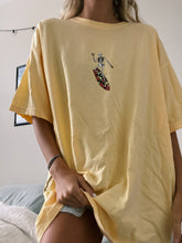 Load image into Gallery viewer, YELLOW SURFING SKELETON TEE