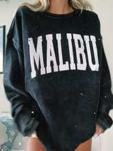 Load image into Gallery viewer, BLACK MALIBU CORDED CREWNECK