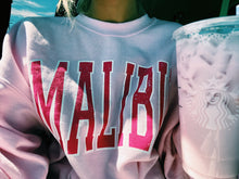 "Load image into Gallery viewer, PINK ""MALIBU"" SWEATSHIRT - Olive Lynn"