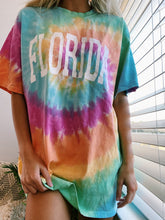 Load image into Gallery viewer, TIE DYE FLORIDA TEE - Olive Lynn