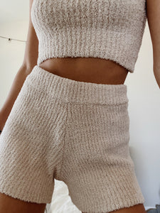 FUZZY LOUNGE SHORTS