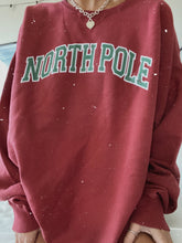 Load image into Gallery viewer, MAROON NORTH POLE VARSITY CREW