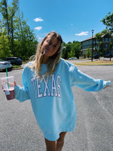Load image into Gallery viewer, BABY BLUE TEXAS CREWNECK - Olive Lynn