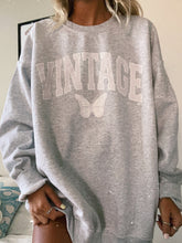 Load image into Gallery viewer, VINTAGE BUTTERFLY CREWNECK