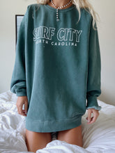 Load image into Gallery viewer, GREEN SURF CITY SWEATSHIRT - Olive Lynn