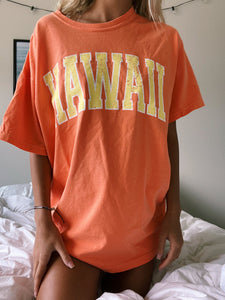 ORANGE & YELLOW HAWAII TEE - Olive Lynn