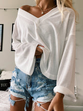 Load image into Gallery viewer, WHITE WAFFLE KNIT TOP