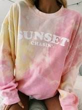 Load image into Gallery viewer, LIMITED EDITION SUNSET CHASIN TIE DYE CREW - Olive Lynn