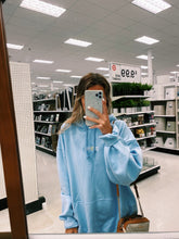 "Load image into Gallery viewer, LIGHT BLUE ""ALOHA"" HOODIE - Olive Lynn"