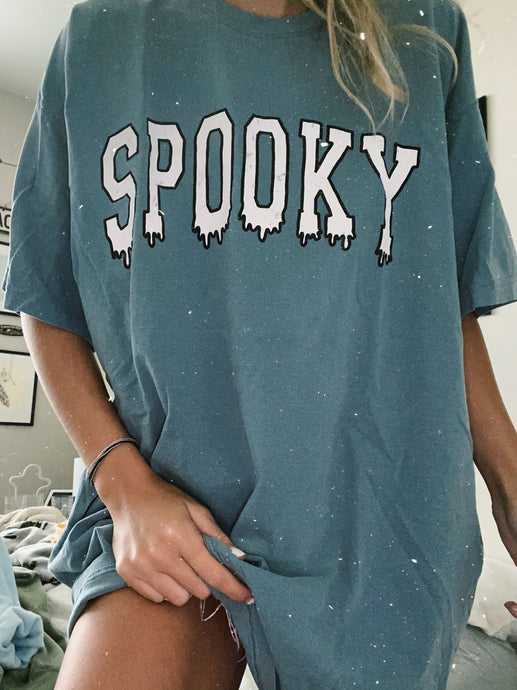 CLASSIC BLUE SPOOKY DRIP TEE