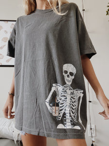 ICED COFFEE SKELETON TEE