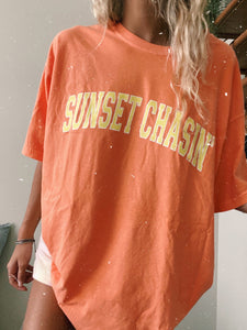 CITRUS SUNSET CHASIN' TEE - Olive Lynn