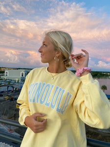 YELLOW HONOLULU SWEATSHIRT - Olive Lynn