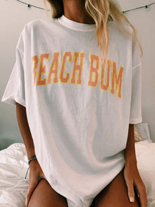 "WHITE ""BEACH BUM"" TEE - Olive Lynn"