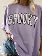 Load image into Gallery viewer, LILAC SPOOKY DRIP TEE