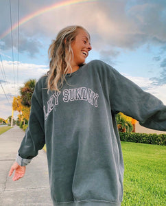 LAZY SUNDAY SWEATSHIRT - Olive Lynn