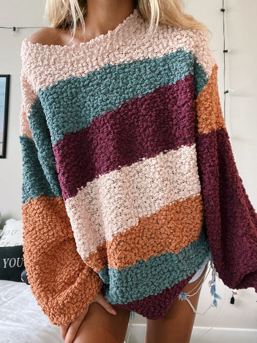 FALL COLORBLOCKED SWEATER